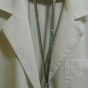 Cherokee Lab Coat with Blingy Badge Holder